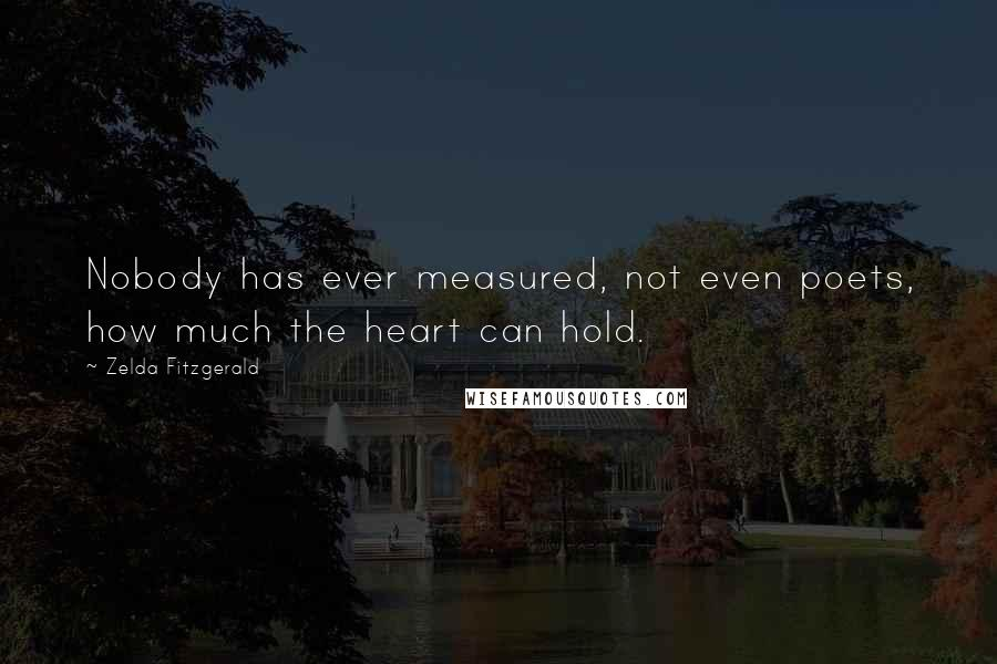 Zelda Fitzgerald quotes: Nobody has ever measured, not even poets, how much the heart can hold.
