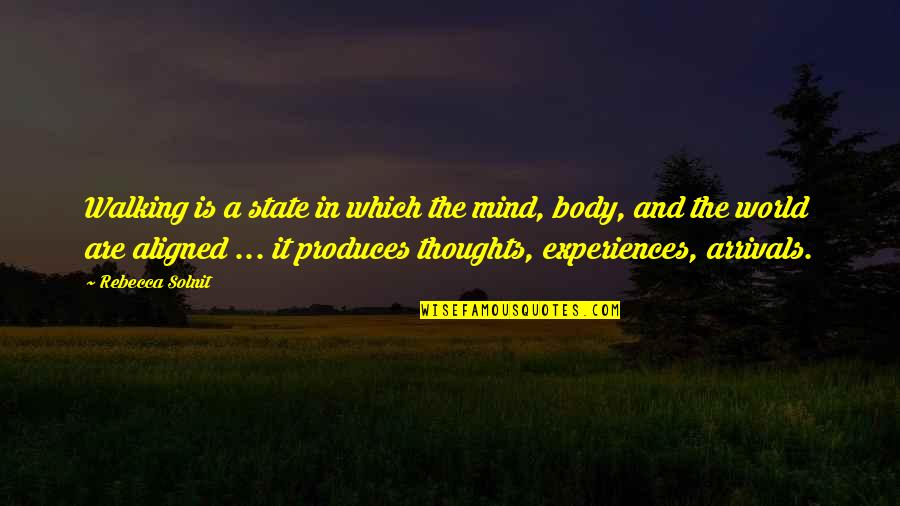 Zen In Martial Arts Quotes By Rebecca Solnit: Walking is a state in which the mind,