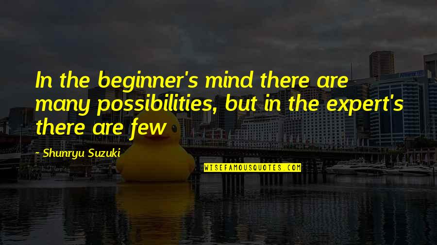 Zen Philosophy Quotes By Shunryu Suzuki: In the beginner's mind there are many possibilities,