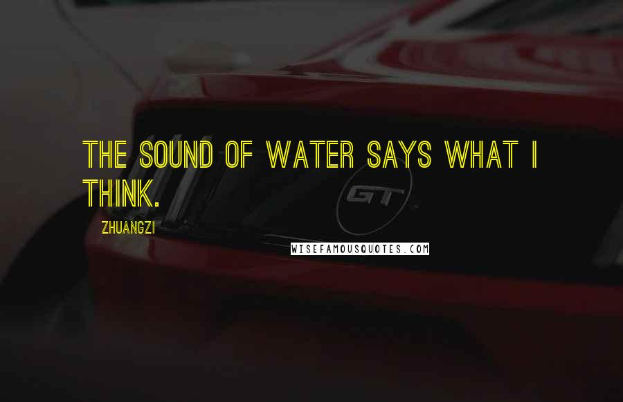 Zhuangzi quotes: The sound of water says what I think.