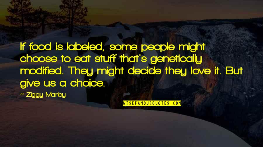 Ziggy Marley Quotes By Ziggy Marley: If food is labeled, some people might choose