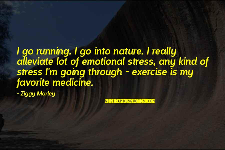 Ziggy Marley Quotes By Ziggy Marley: I go running. I go into nature. I