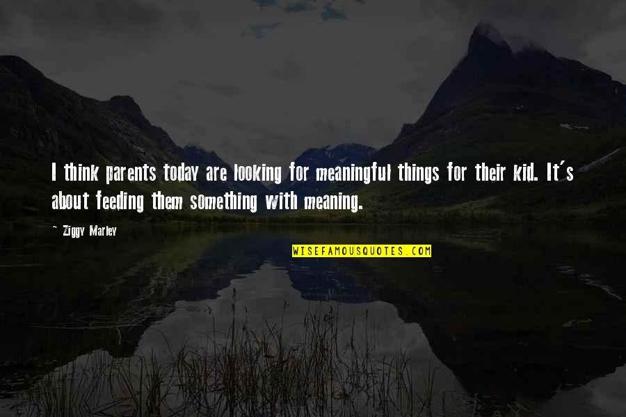 Ziggy Marley Quotes By Ziggy Marley: I think parents today are looking for meaningful