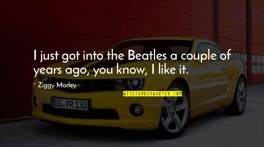 Ziggy Marley Quotes By Ziggy Marley: I just got into the Beatles a couple