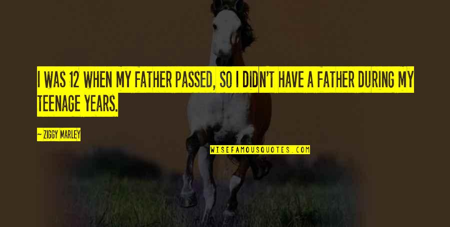 Ziggy Marley Quotes By Ziggy Marley: I was 12 when my father passed, so