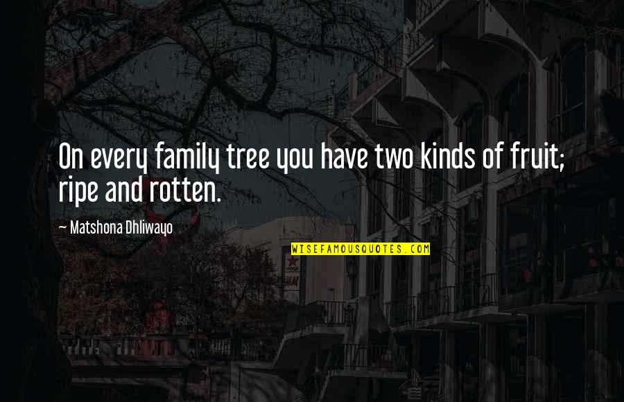 Zindagi Jhand Hai Quotes By Matshona Dhliwayo: On every family tree you have two kinds
