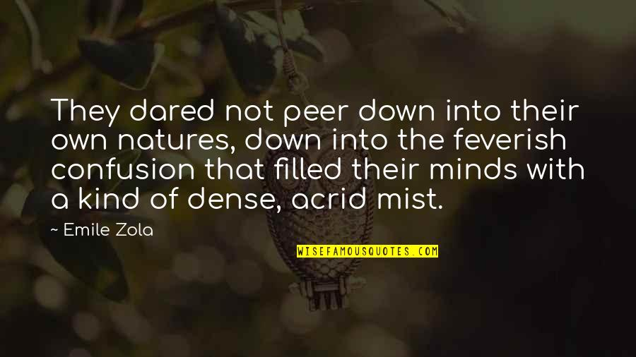 Zola Emile Quotes By Emile Zola: They dared not peer down into their own