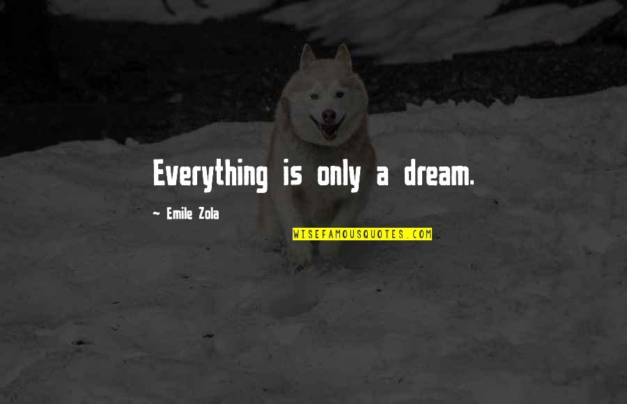 Zola Emile Quotes By Emile Zola: Everything is only a dream.