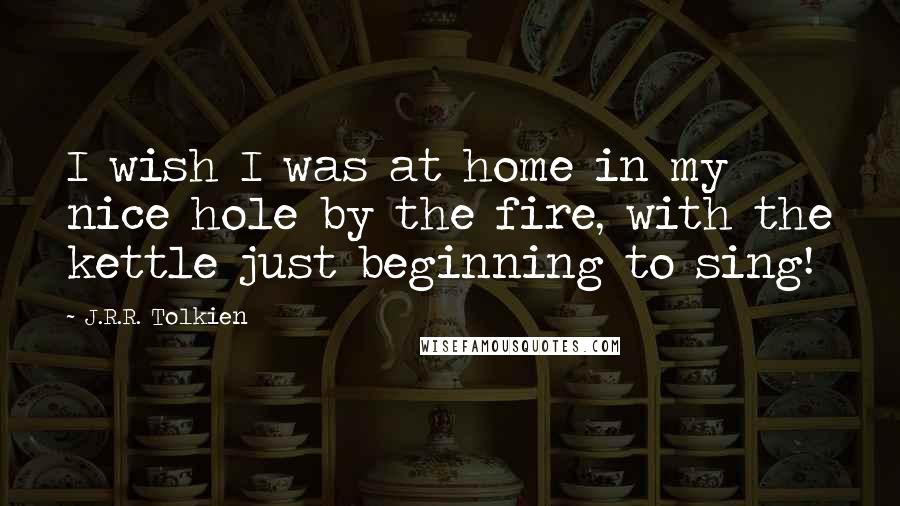 j r r tolkien quotes i wish i was at home in my nice hole by the
