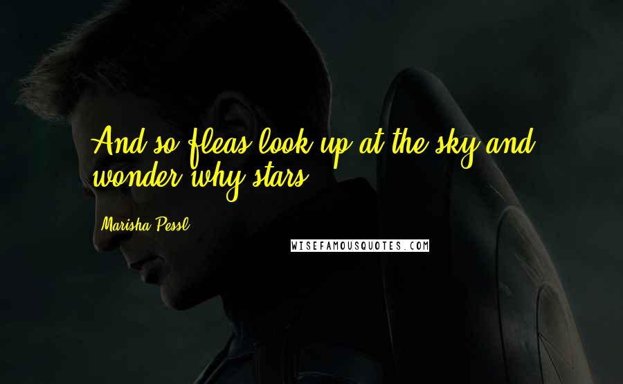 Marisha Pessl Quotes: And so fleas look up at the sky and wonder why stars.