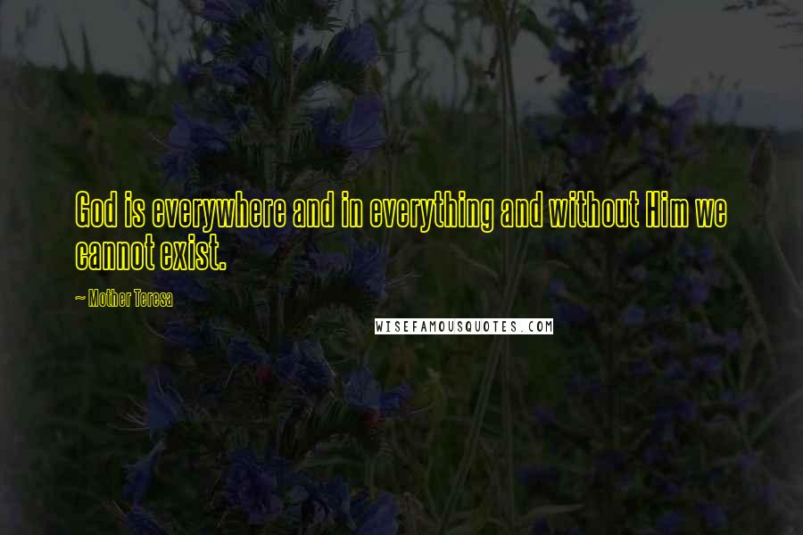 mother teresa quotes god is everywhere and in everything and