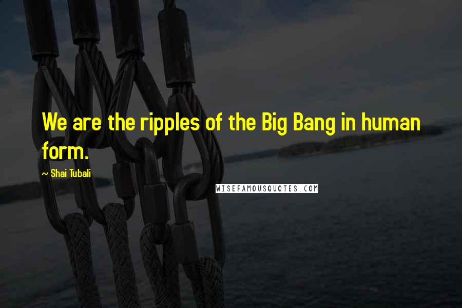 Shai Tubali Quotes: We are the ripples of the Big Bang in human form.