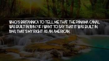 Panama's Quotes