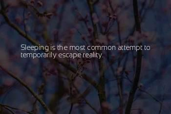 Sleeping To Escape Reality Quotes