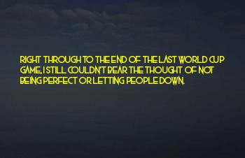 The World Not Being Perfect Quotes